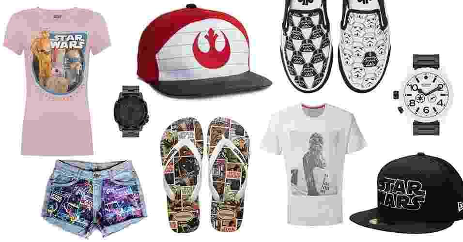 Star Wars: montagem de produtos - Divulgação