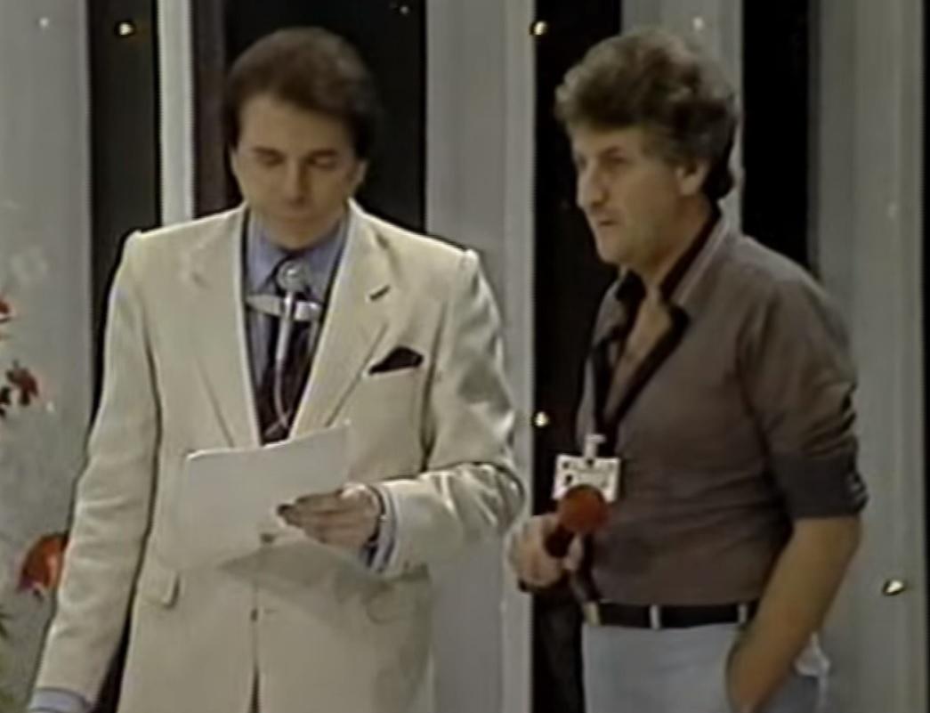 Diretor Orlando Macrini com Silvio Santos em 1988