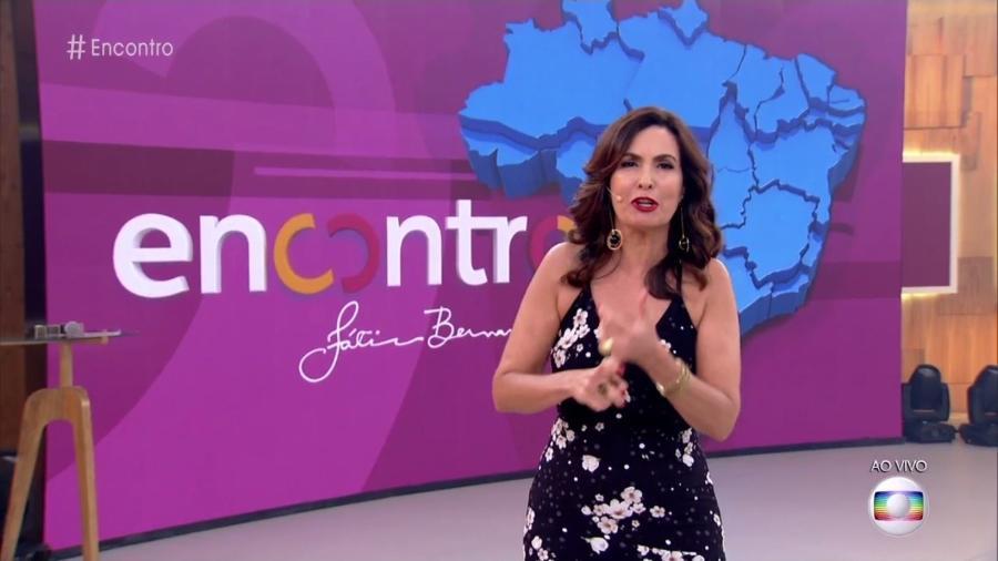 Fátima Bernardes no cenários de seu programa matinal na Globo - Reprodução/Globo