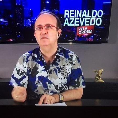 """Reinaldo Azevedo no """"RedeTV! News"""" - Reprodução/RedeTV! News"""