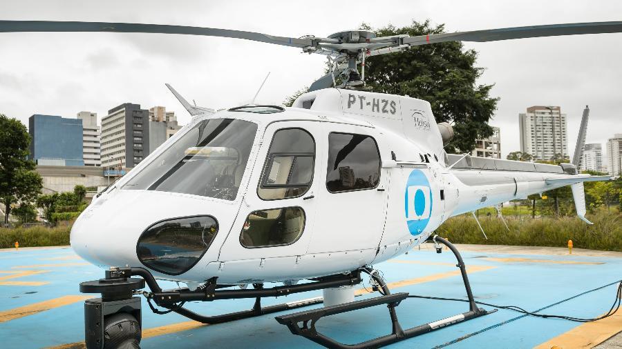 Novo helicóptero do jornalismo da TV Globo, Globocop - Ramón Vasconcelos/Divulgação/TV Globo