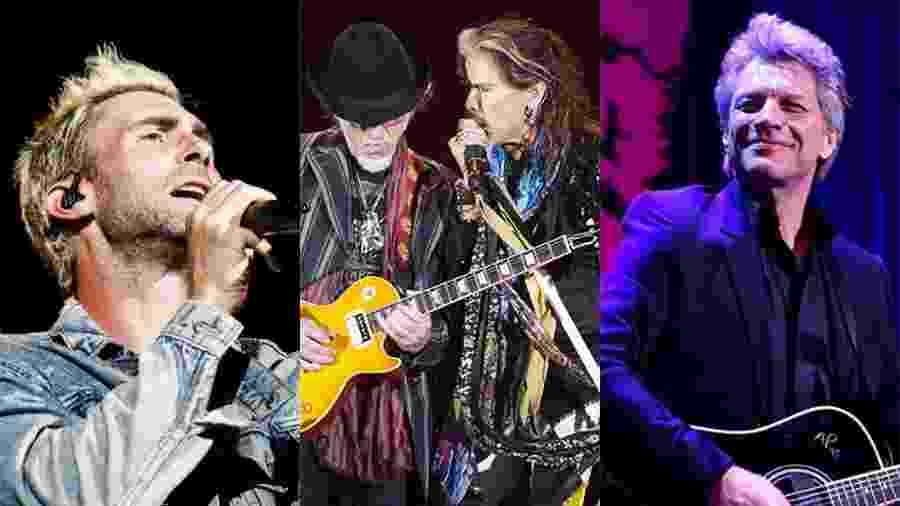Maroon 5, Aerosmith e Bon Jovi se apresentam no Rock in Rio em setembro e também em outras cidades brasileiras - Lucas Lima/UOL, Reinaldo Canato/UOL e AFP