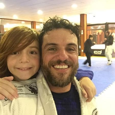 Rodrigo Lombardi com o filho, Rafael - Reprodução/Instagram