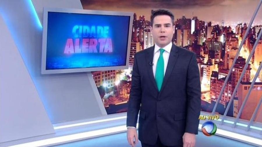 """Luiz Bacci, o âncora do """"Cidade Alerta"""", da Record - Reprodução/TV Record"""