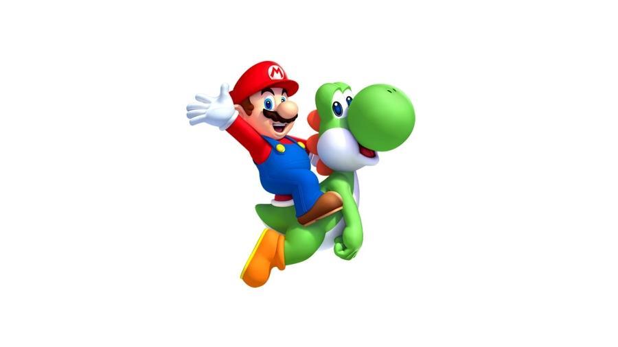 Mario e Yoshi - Reprodução