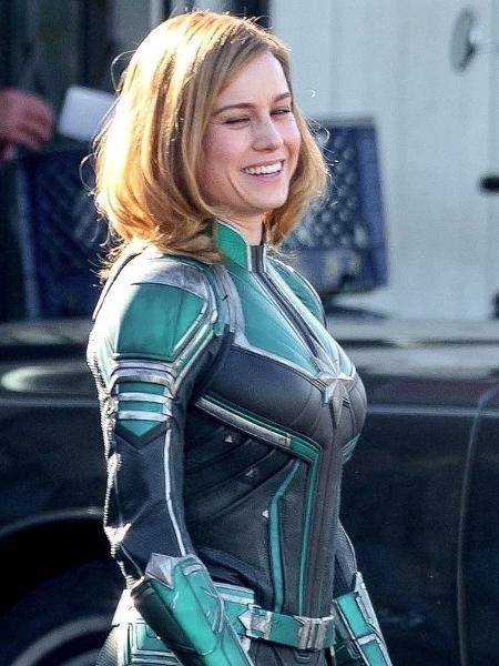 """Brie Larson nos bastidores de """"Capitã Marvel"""" - Reprodução"""