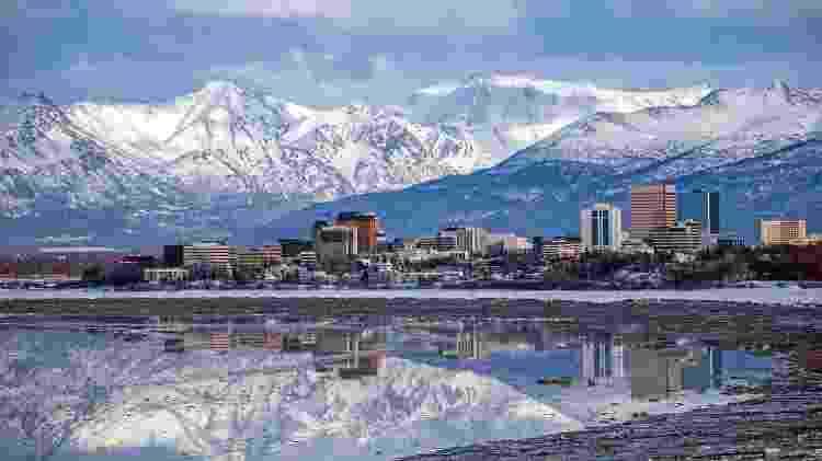 Cidade de Anchorage, no Alasca - Getty Images/iStockphoto - Getty Images/iStockphoto