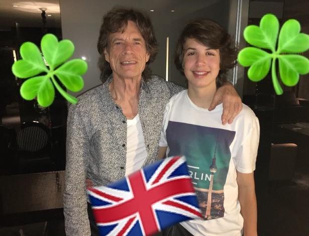 Luciana Gimenez publicou uma foto do filho ao lado do pai, o cantor Mick Jagger