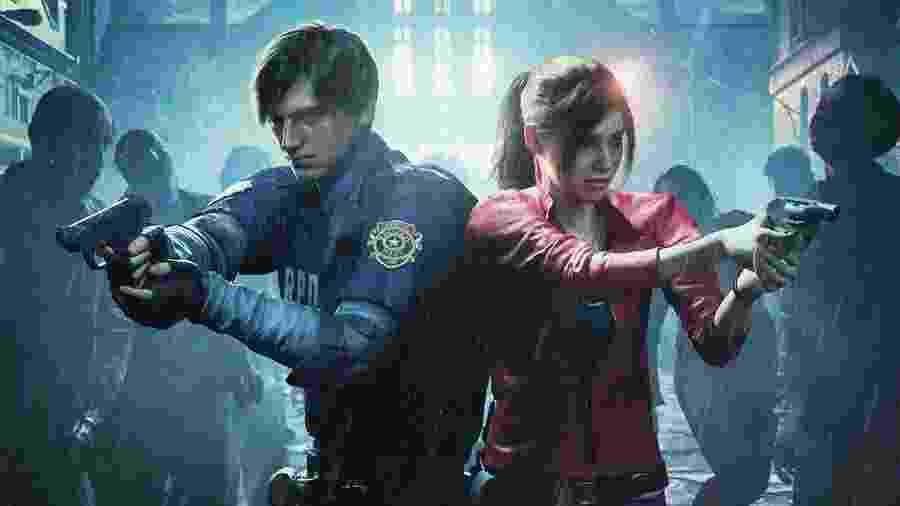 """Leon e Claire no remake de """"Resident Evil 2"""" - Reprodução"""