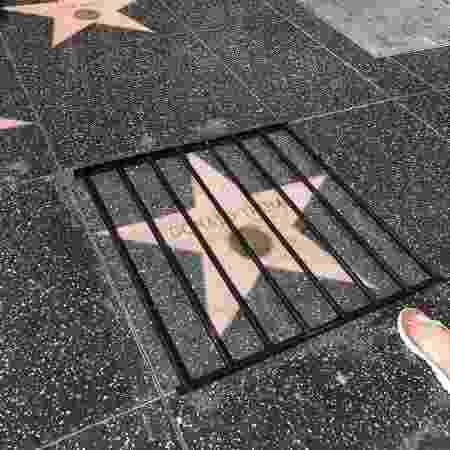 Estrela de Donald Trump sofre intervenção artística - Reprodução/Instagram