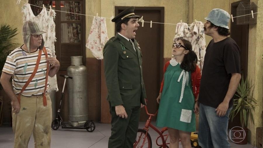 """""""Tá no Ar"""" traz personagem inspirado em Jair Bolsonaro no quadro """"Vila Militar do Chaves"""" - Reprodução/Globo"""