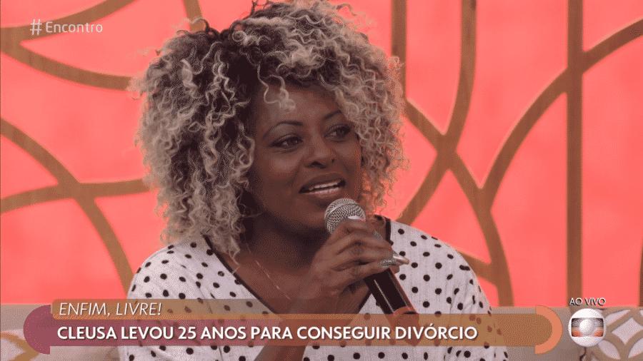 """Cleusa Cruz foi ao """"Encontro"""" contar por que queria o divórcio e viralizou na internet - Reprodução/Globo"""