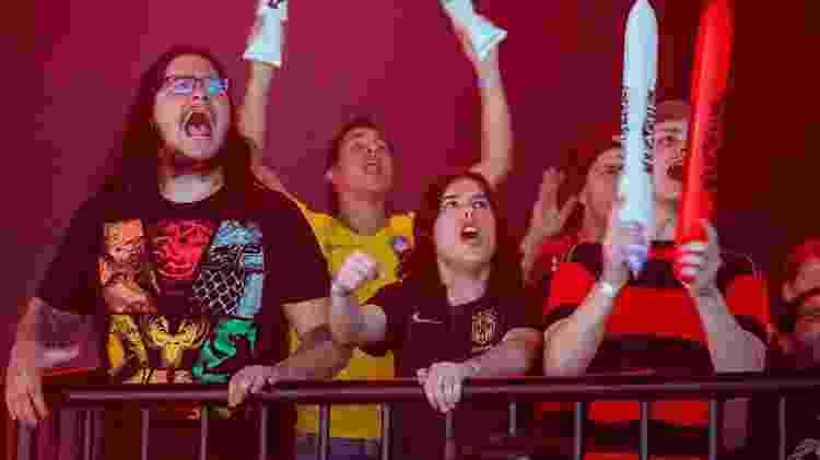 Torcida do Flamengo fez barulho em Berlim, que recebe a Fase de Entrada do Mundial - Michal Konkol/Riot Games