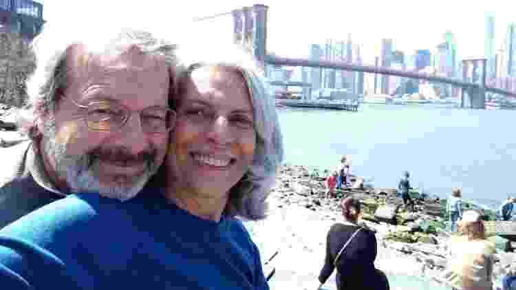 """Ana com o marido Sérgio: """"O apoio do meu marido foi fundamental para ter forças"""" - Arquivo pessoal"""