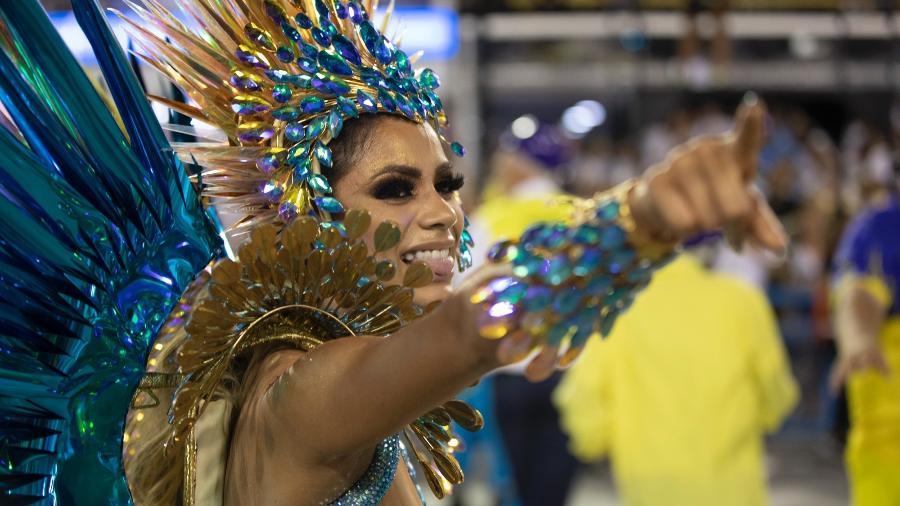Lexa lembrou desfile pela Unidos da Tijuca - Luciola Vilella/UOL