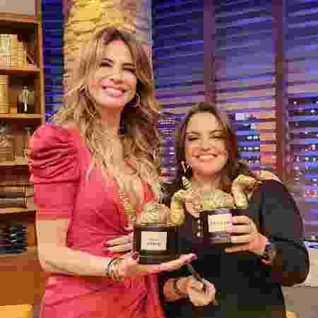 Luciana recebe Fabiola Reipert na Rede TV! - Divulgação Rede TV!