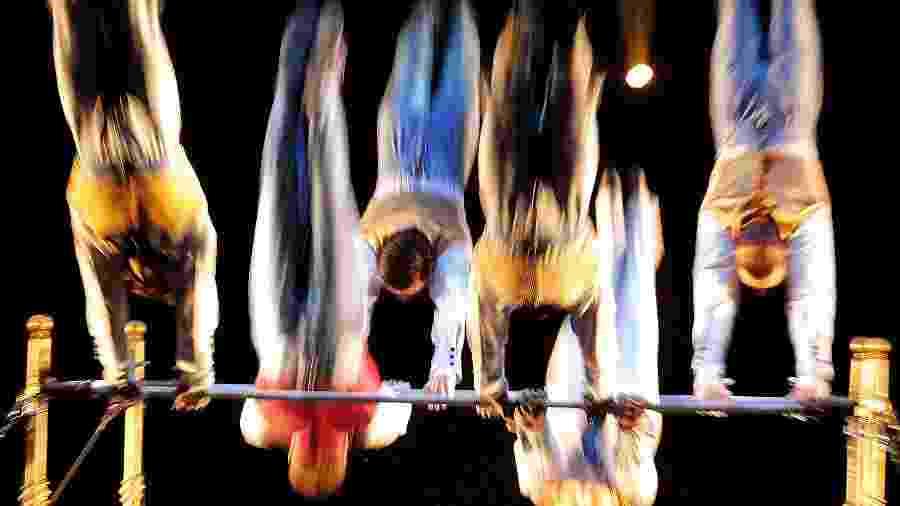 Apresentação do espetáculo Corteo, do Cirque Du Soleil, no parque Villa Lobos, em Sao Paulo - Flavio Florido/UOL