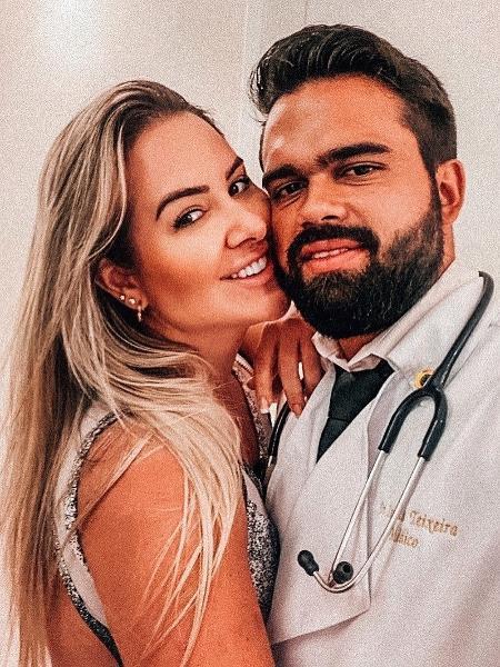 A ex-BBB Patrícia Leitte e o novo namorado, Lucas Teixeira - Reprodução/Instagram
