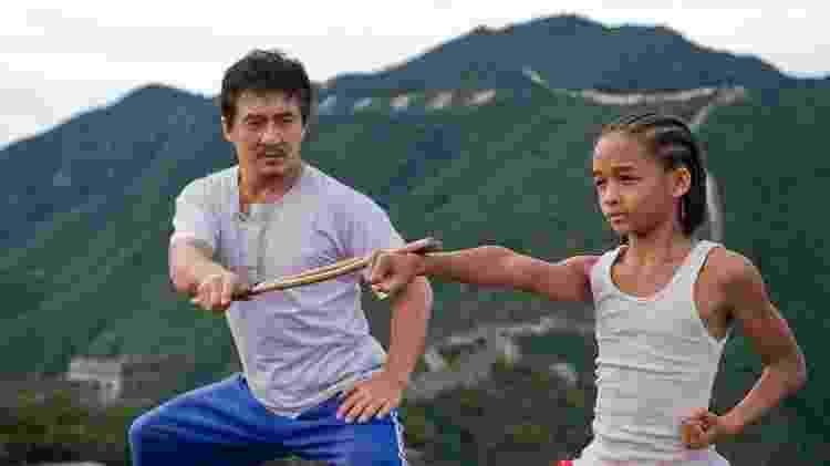 Jackie Chan e Jaden Smith em cena de 'Karatê Kid' (2010) - Reprodução - Reprodução