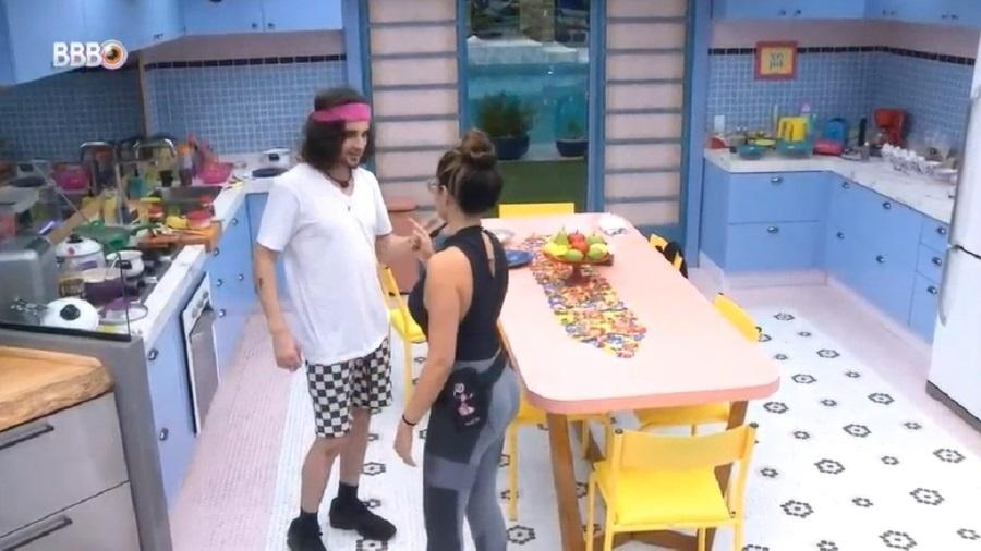 BBB 21: Juliette e Fiuk conversam sobre brincadeiras no confinamento - Reprodução/Globoplay