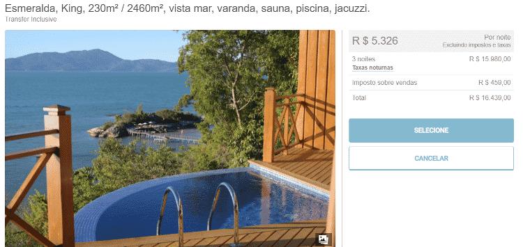 """Uma dos espaços disponibilizadas pelo resort """"Ponta dos Ganchos"""" - Reprodução - Reprodução"""
