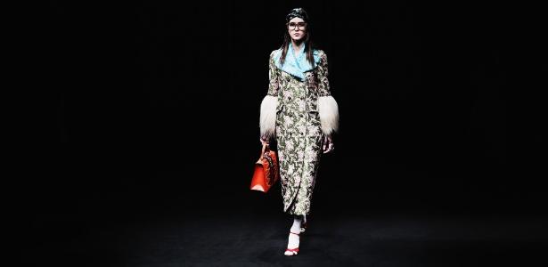 Desfile de Gucci foi um dos destaques do primeiro dia da Semana de Moda de Milão - Getty Images