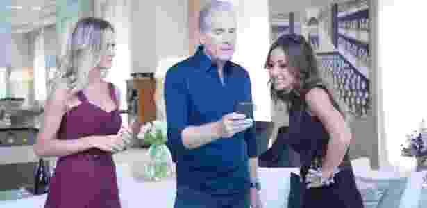 "Sabrina Sato visita Roberto Justus e Ana Paula Siebert no ""Programa da Sabrina"" de sabádo (23)   - Edu Moraes/Rede Record"