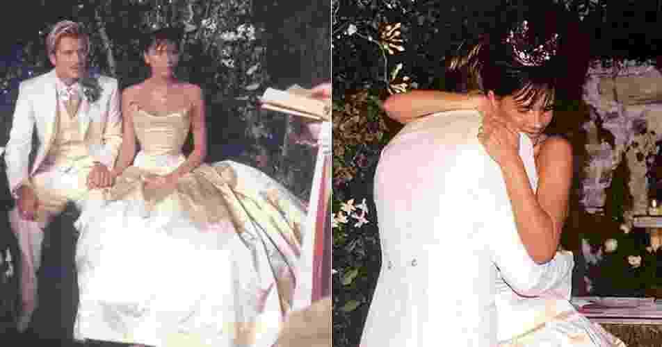 4.jul.2016-  David e Victoria Beckham comemoram 17 anos de casados nesta segunda-feira (4). Em seus perfis no Instagram, o casal postou fotos do dia em trocaram os votos - Reprodução/Instagram/victoriabeckham/davidbeckham