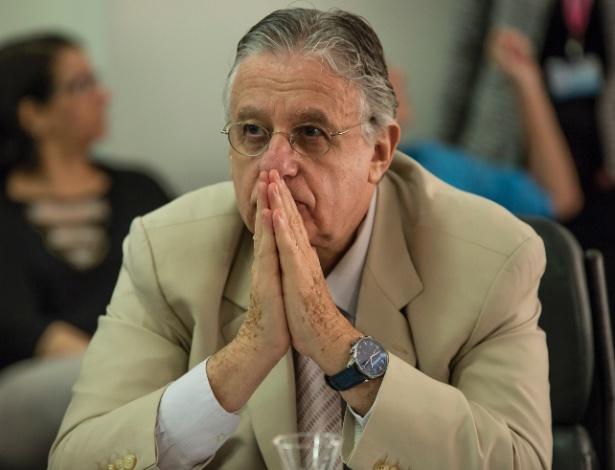 O maestro John Neschling durante depoimento na CPI do Teatro Municipal, em agosto - Suamy Beydoun/Futura Press/Estadão Conteúdo