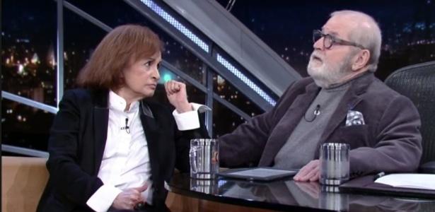 """A atriz Joana Fomm dá entrevista no """"Programa do Jô"""", da TV Globo - Reprodução"""