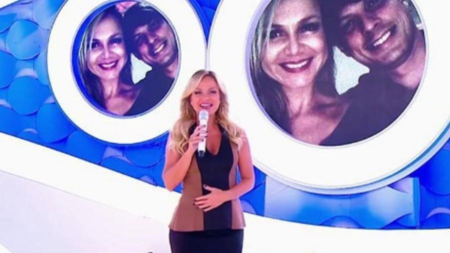 A apresentadora Eliana, de 43 anos, anunciou no finalzinho do seu programa, neste domingo (2), que está grávida do seu segundo filho - Reprodução/SBT