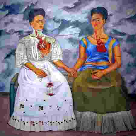 "Obra ""The Two Fridas"", exposta no Museu do Palácio de Belas Artes, na Cidade do México - France Presse - France Presse"