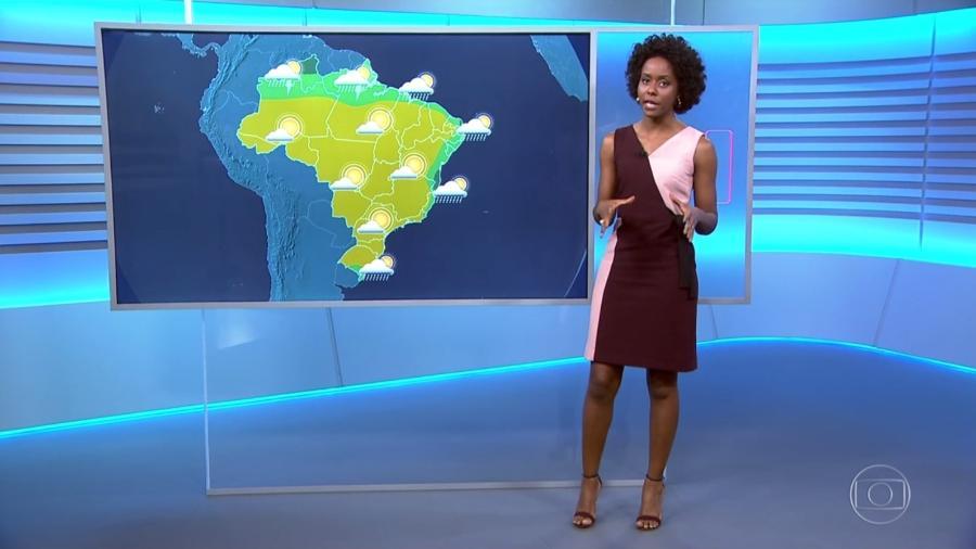 Depois do fórum em Paris, Maria Júlia Coutinho está de volta ao Brasil - Reprodução/TV Globo