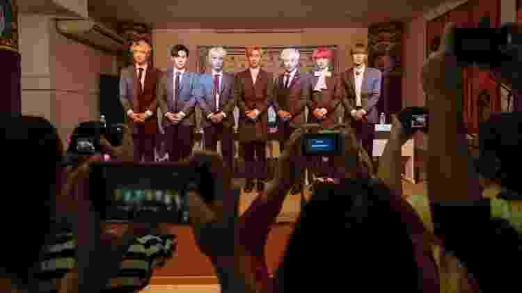 O grupo de K-pop BLANC7 atende a imprensa em São Paulo - Gabo Morales/UOL - Gabo Morales/UOL