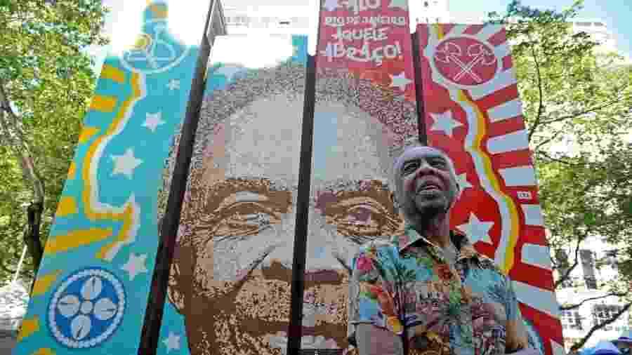 Gilberto Gil inaugura painel na Cinelândia - Tomaz Silva/Agência Brasil