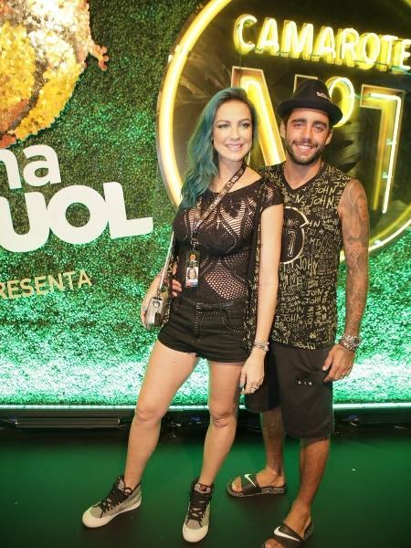 Desfile das Campeãs Camarote CarnaUOL Luana Piovani e Pedro Scooby - Gianne Carvalho/UOL