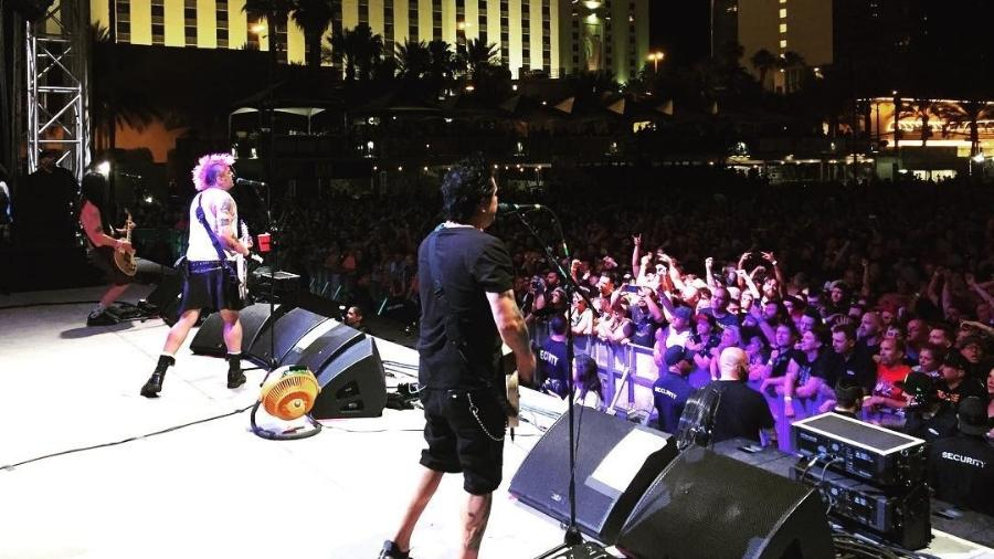 NOFX durante seu show em Las Vegas - Instagram/Reprodução