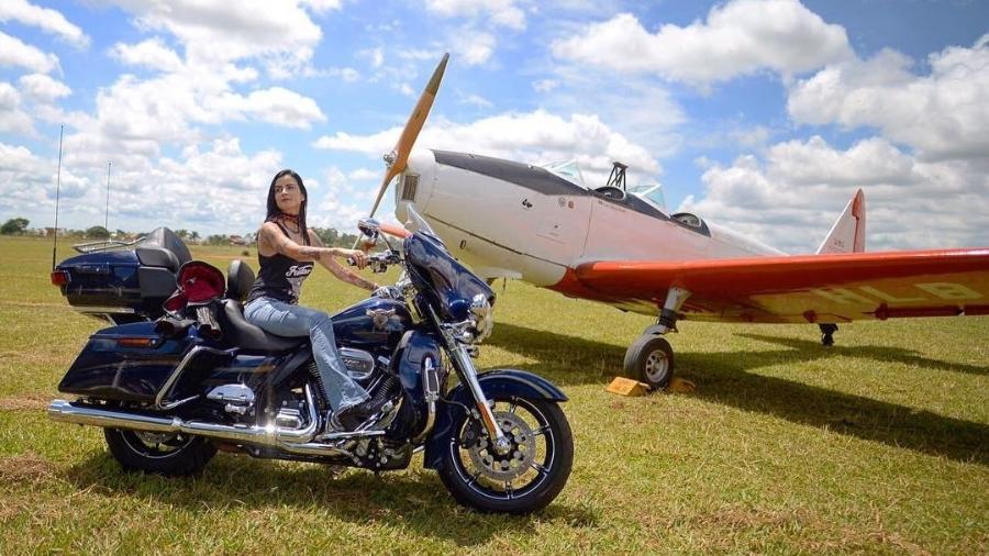 Gabriela Natalia Silva em aeroclube no interior de São Paulo - Reprodução/Instagram