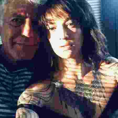 """Anthony Bourdain com a namorada, Asia Argento, atriz e diretora. Ela trabalhava com ele em episódios do """"Parts Unknown, da CNN"""" - Reprodução/Instagram"""