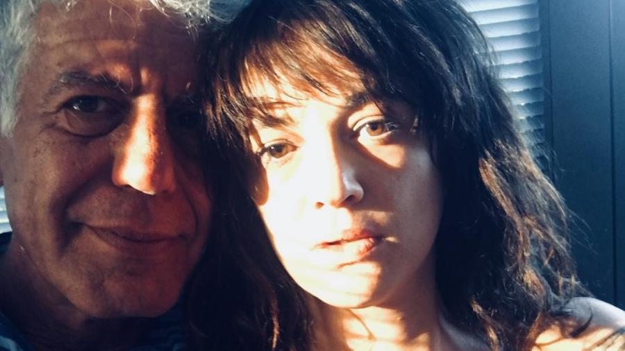 Anthony Bourdain com a namorada, Asia Argento - Reprodução/Instagram