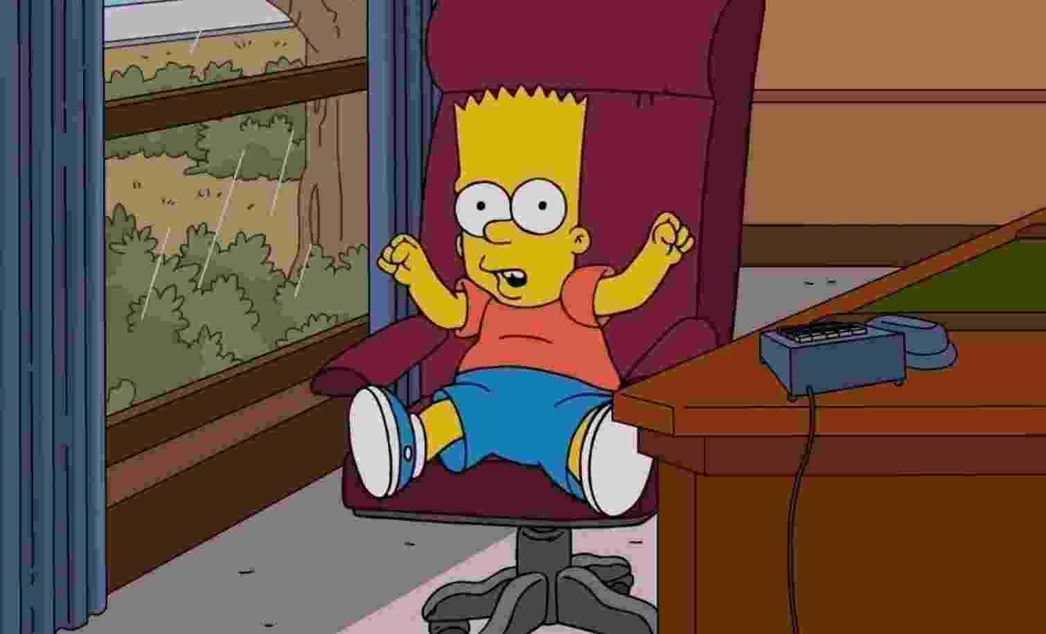 """Personagem Bart Simpson na série animada """"Os Simpsons"""" - Divulgação"""