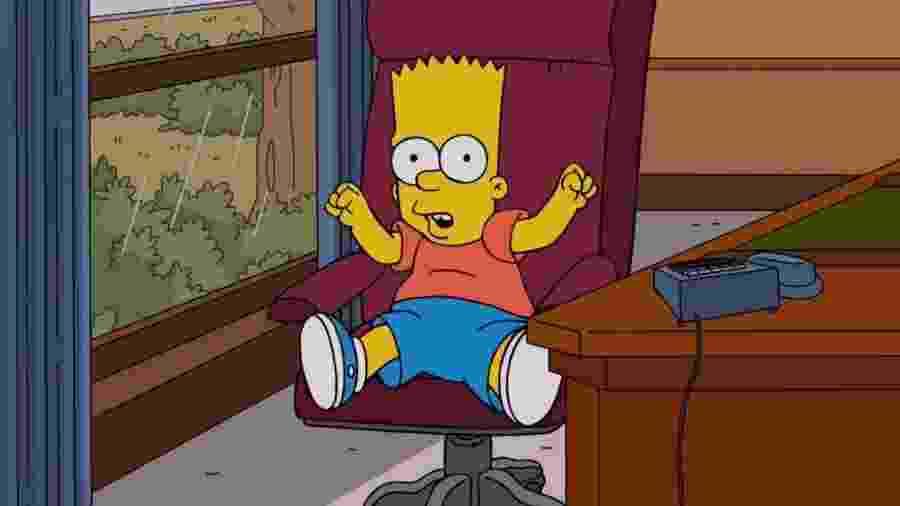 """O personagem Bart Simpson na série """"Os Simpsons"""" - Divulgação"""