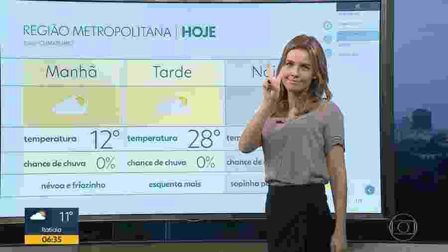 """Silvana Ramiro, apresentadora do """"Bom Dia RJ"""", telejornal local da Globo - Reprodução/TV Globo"""