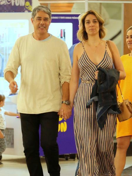 William Bonner com a noiva, Natasha Dantas - AgNews