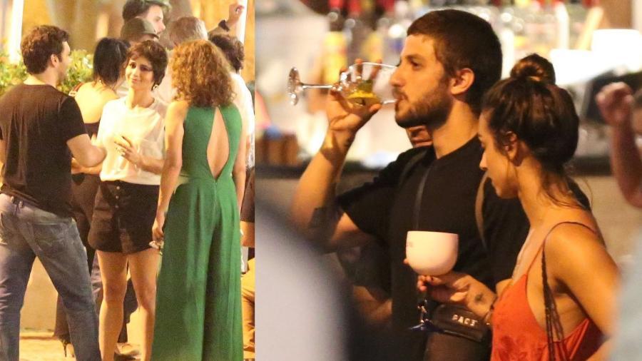 """Nanda Costa festeja aniversário em bar do Rio e recebe amigos de """"Segundo Sol"""" Chay Suede,  Camila Lucciola  - Thiago Martins/Ag.News"""