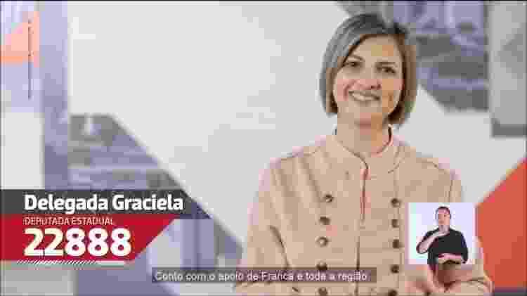 Vídeo de campanha da delegada Graciela, eleita como deputada estadual em São Paulo; vereadora por 3 mandatos, disputou prefeitura de Franca (SP) - Reprodução - Reprodução