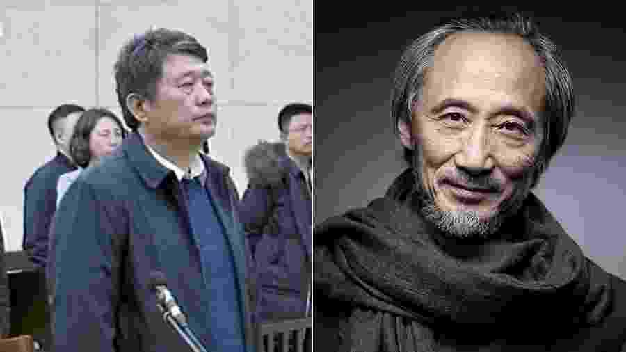 Ma Jian, chefe dos espiões chineses no tribunal e Ma Jian, o escrito chinês que vive no exílio - Divulgação e Joel Saget/AFP