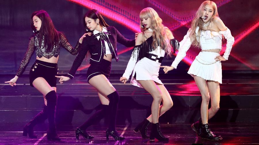 As cantoras do grupo Blackpink durante show na Coreia - Chung Sung-Jun/Getty Images
