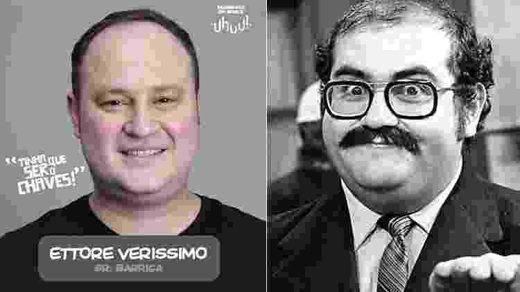 """Ettore Verissimo interpretará Sr. Barriga em """"Chaves - Um Tributo Musical"""" - Montagem/UOL - Montagem/UOL"""