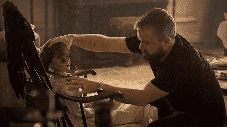 Diretor David F. Sandberg no set de Annabelle 2: A Criação do Mal - Reprodução